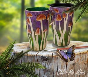 Glendale Mushroom Mugs