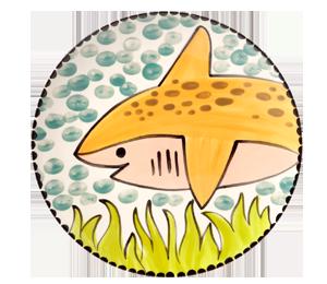 Glendale Happy Shark Plate