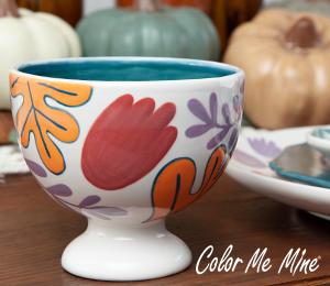 Glendale Floral Pedestal Bowl