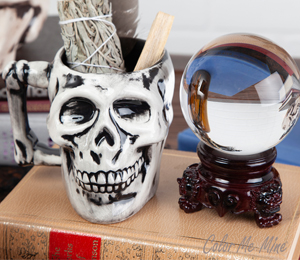 Glendale Antiqued Skull Mug